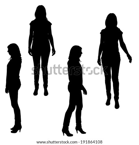 vector silhouette of a woman on