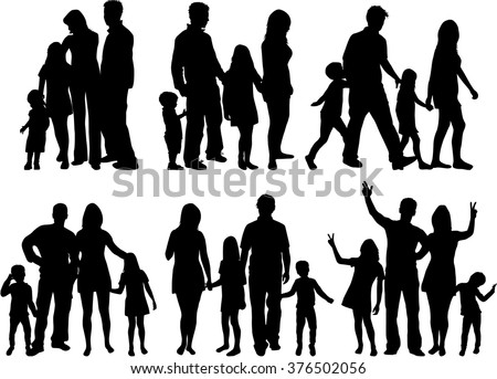 stock-vector-vector-silhouette-of-family