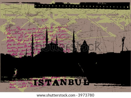vector silhouette of istanbul-you can find this type of illustrations in my gallery