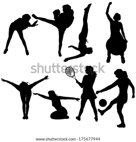 vector silhouette of people in