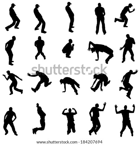 vector silhouette of people who