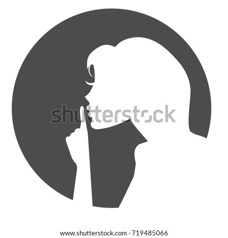 vector silhouette of please