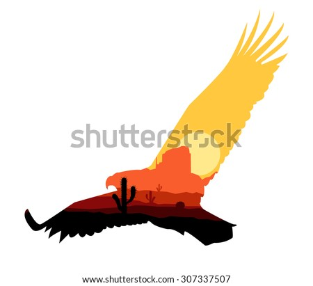 vector silhouette of western