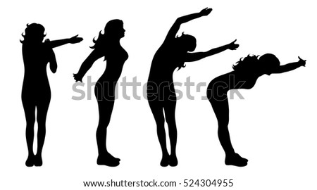 vector silhouette of woman who