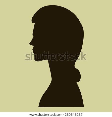 vector silhouette profile of a
