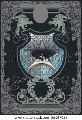 Vector silhouettes, heraldic 46, vector illustration