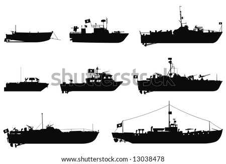 vector silhouettes of