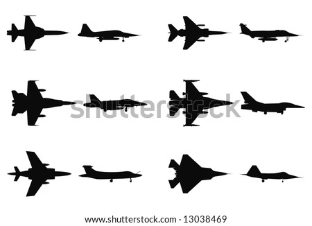 vector silhouettes of military