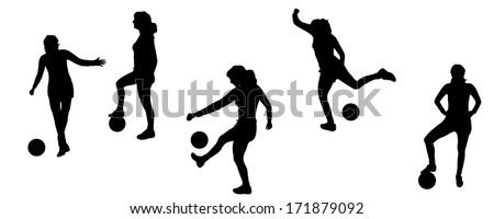 vector silhouettes of sporting