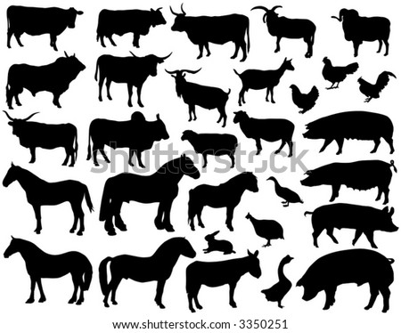 silhouettes of animals. I have about free wild animals