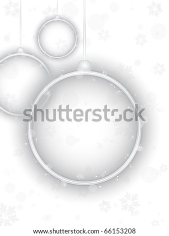 Vector - Silver Neon Christmas Ball on White Background