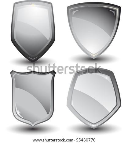 Vector silver shields