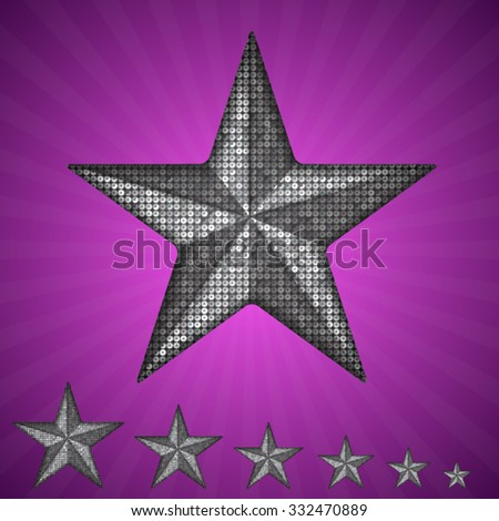vector silver star with