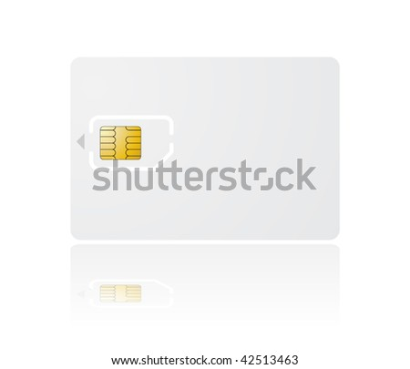 vector sim card with holder