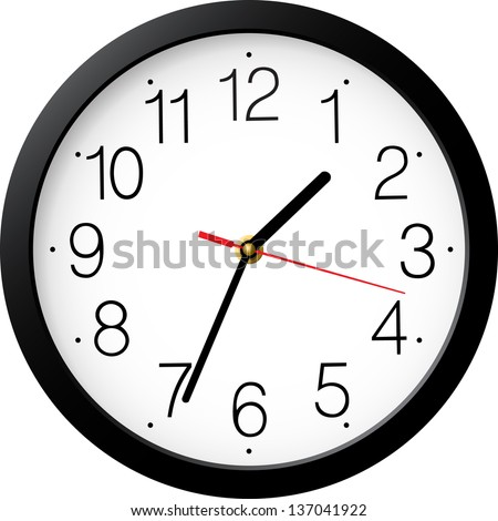 Vector Red Wall Clock Download Free Vector Art Free