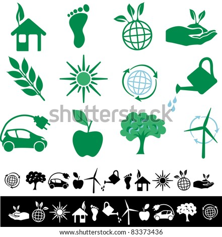 vector simple ecology signs