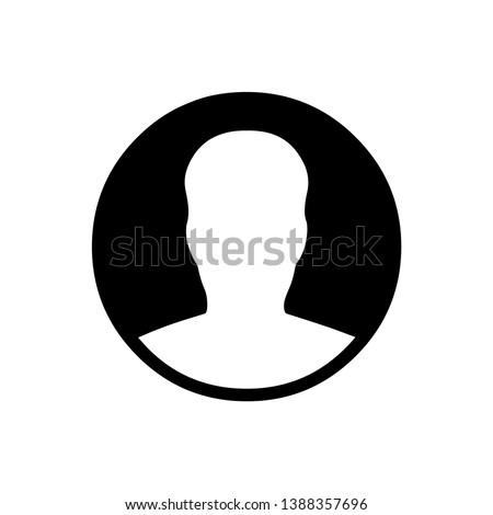 Vector simple male profile icon