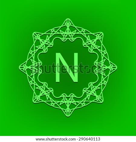 vector simple  monogram n