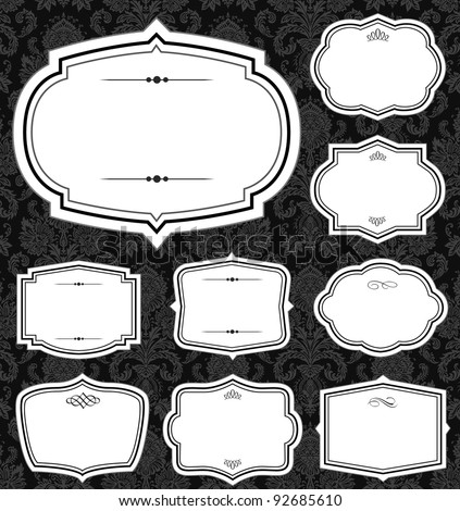 Vector Simple Ornate Frame Set. Easy to edit. Perfect for invitations or announcements.