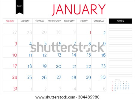 stock-vector-vector-simple-planning-calendar-january-with-a-place-for-notes-weeks-start-on-sunday