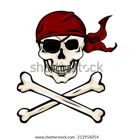 vector single cartoon pirate