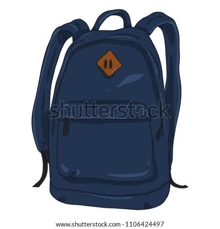 Vector Single Dark Blue Cartoon Casual Urban Style Backpack