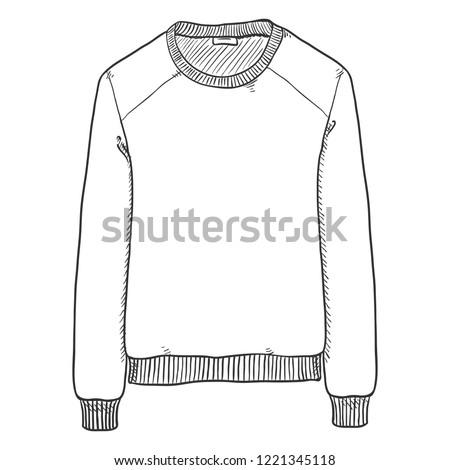 Vector Single Sketch Illustration - Basic Sweat Shirt