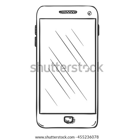 Vector Single Sketch Smartphone