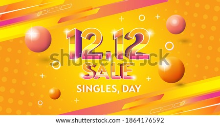 vector singles,day sale 12.12background banner template Shopping day sale poster geometry