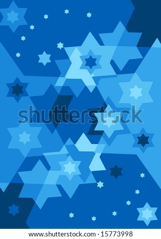 Vector six pointed stars