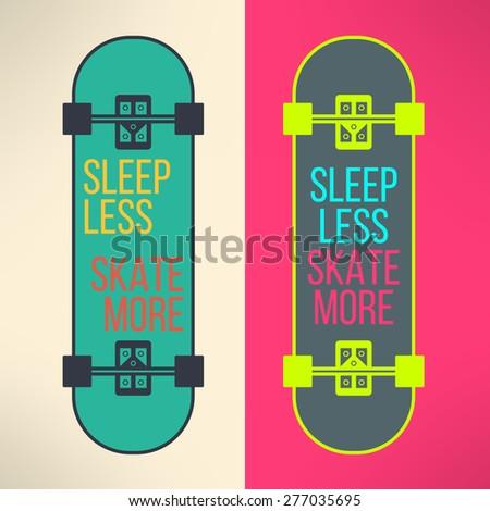 vector skateboard background