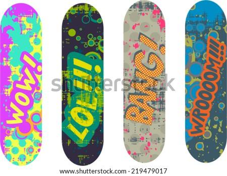 vector skateboard design pack