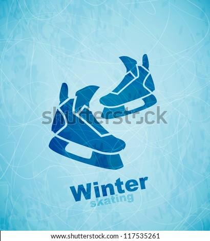 vector skates background