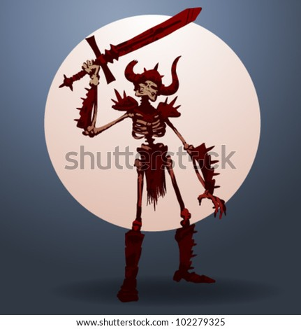 vector skeleton warrior