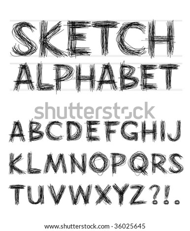 Vector Sketch Alphabet