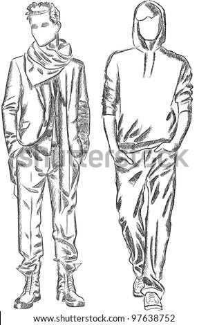 Fashion Design Sketch Model Templates in addition Stock Vector Vector Sketch Of Fashionable Men furthermore Technical Drawing also Vector Vestido Blanco Moda Ropa Mujer 6528509 furthermore Fashion Drawing Templates Men. on fashion flat drawings