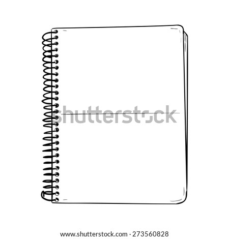 Vector sketch of notepad. Hand draw illustration.