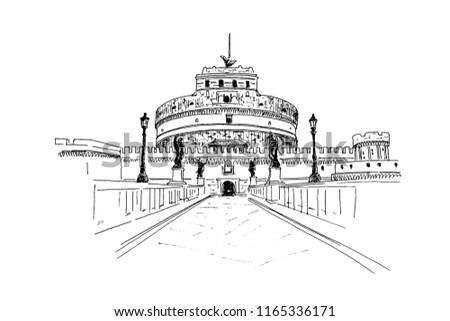 vector sketch of the mausoleum