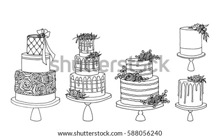 Cake Vectors Download Free Vector Art Stock Graphics Images - Wedding Cake Outline
