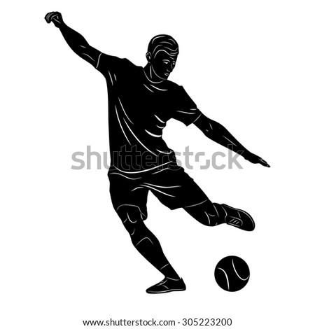 vector sketch soccer player