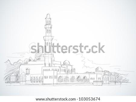 Vector Sketched Mosque