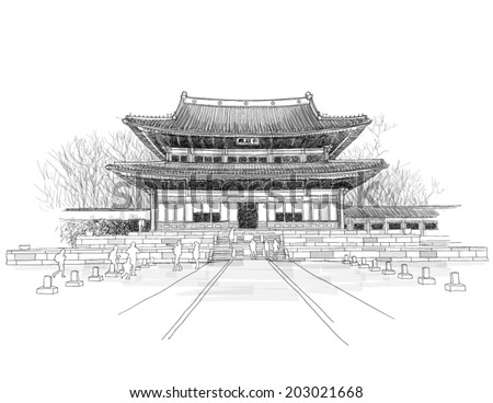 vector sketching of korean