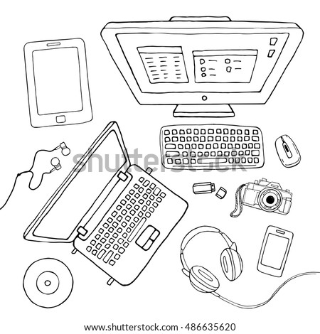vector sketchy gadgets set