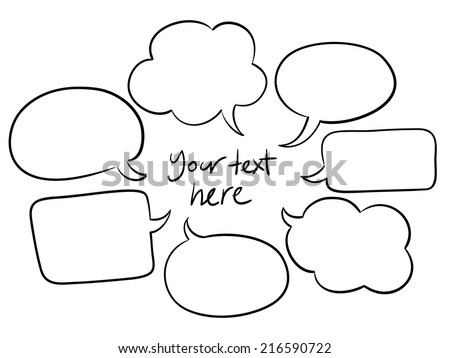 vector sketchy speech bubbles