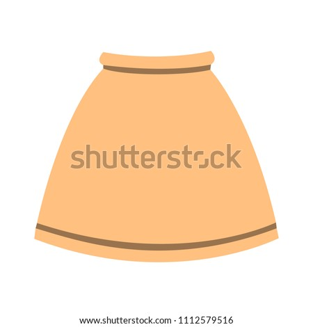 vector skirt template  design