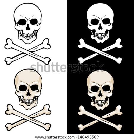 vector skull and crossbones on