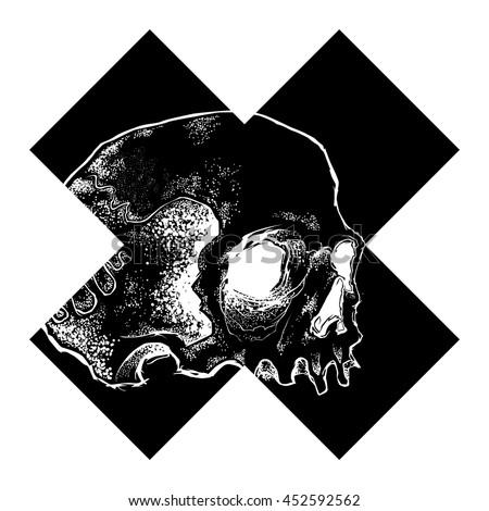 vector skull cross