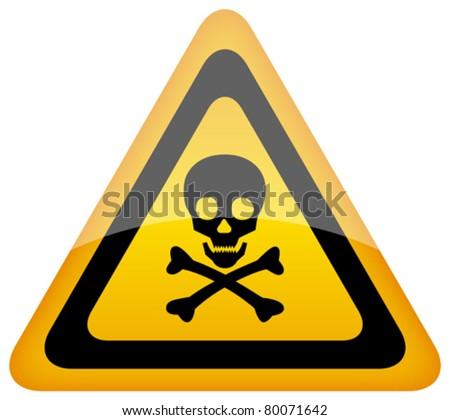 Vector skull danger sign, eps10