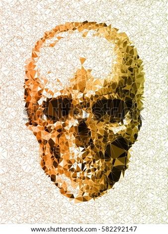 vector skull disco diamond