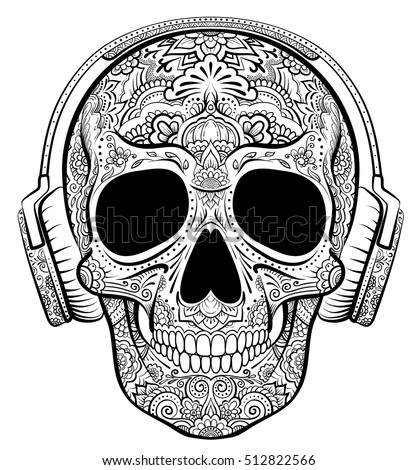 vector skull graphics with